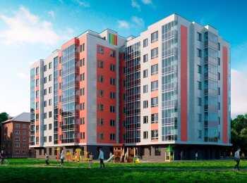 8-этажный монолитный корпус ЖК Iva Dom